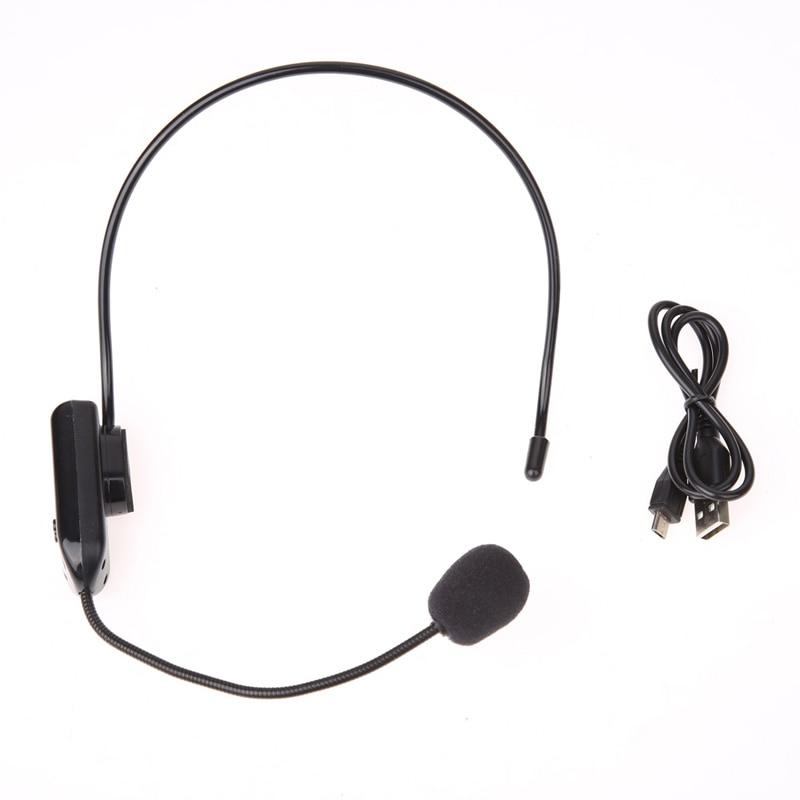 Auriculares FM inalámbricos con micrófono para amplificador de voz megáfono, micrófono de Radio para altavoz para enseñanza, guía turística, conferencias y reuniones