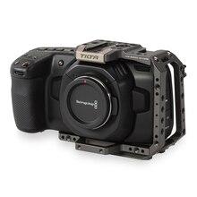 Tilta BMPCC 4 K клетка половина аксессуары для камеры для BMD BlackMagic Карманный кинотеатр камера 4 K половина камеры клетка