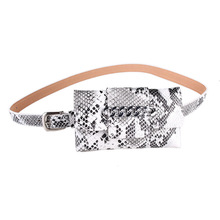 HUOBAO Women Waist Pack Serpentine Fanny Pu Leahter Bag Famal Fashion Snake Skin Belt High Quality Female Purse