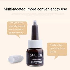 Image 3 - 1 adet GOOCHIE Microblading pigmenti kalıcı makyaj kaş dudak Pigment 6 renk dövme mürekkep kaş Pigment dövme makine mürekkebi