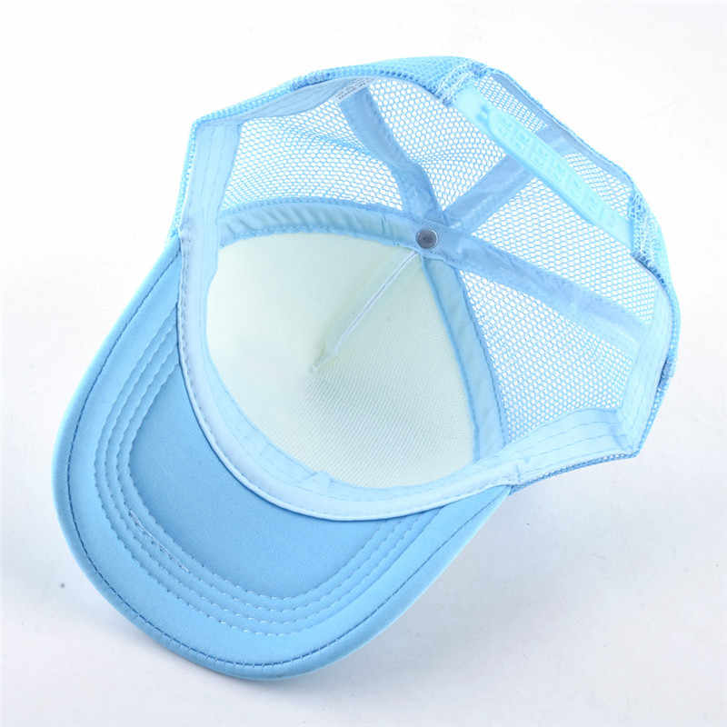 Happy Mothers Day Mesh Baseball Cap Girls Adjustable Trucker Hat Sky Blue