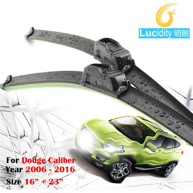 Frete Grátis! Windshield Wiper Blade Bracketless Limpador de Janela Do Veículo do carro de Borracha Macia Para Dodge Caliber 2006-2016