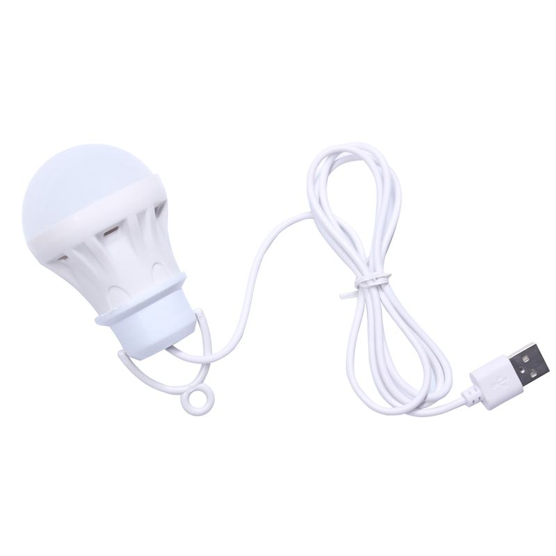 3V 3W Usb Bulb Light Portable Lamp Led 5730 For Hiking Camping Tent Travel Work With Power Bank Notebook(China)