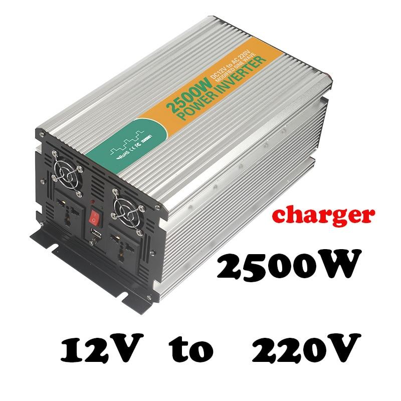 2500W 12v to 220v charger industrial power inverter 2500 watt power inverter,single phase ...