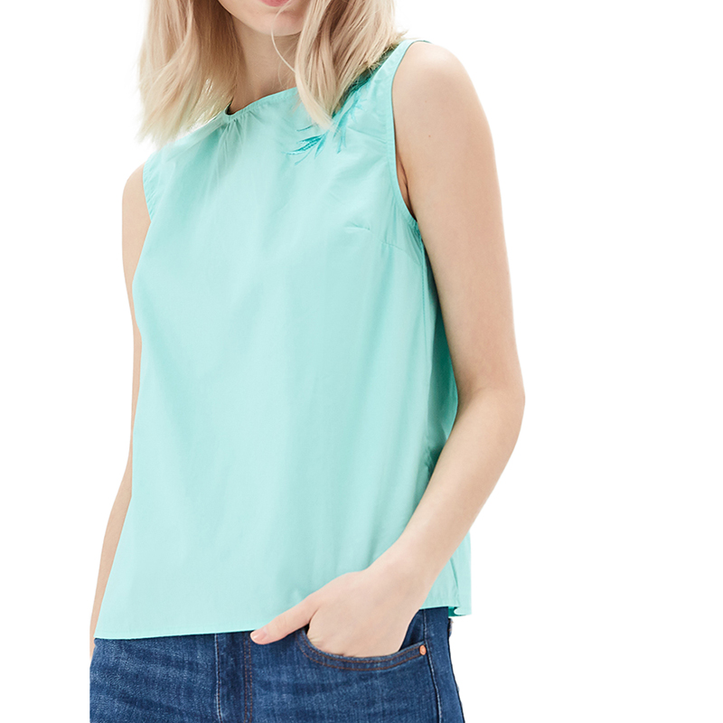 Blouses & Shirts MODIS M181W00682 women blouse shirt  clothes apparel for female TmallFS dresses dress befree for female half sleeve women clothes apparel casual spring 1811554599 50 tmallfs