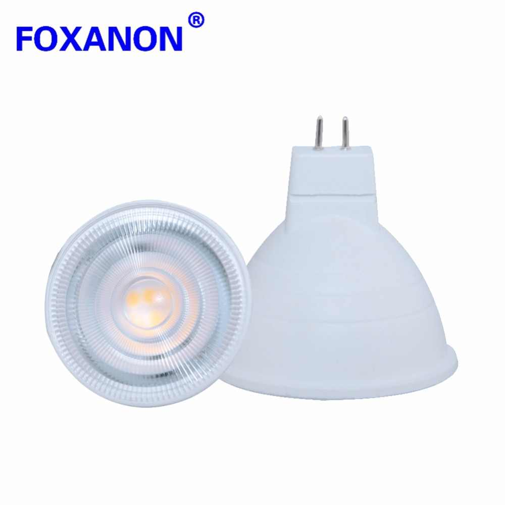 Foxanon 220V GU10 Spotlight Lamp Bulb MR16 5W 7W LED 2835SMD Chip Beam Angle 24/120 LED Night light For Downlight Table Lamp