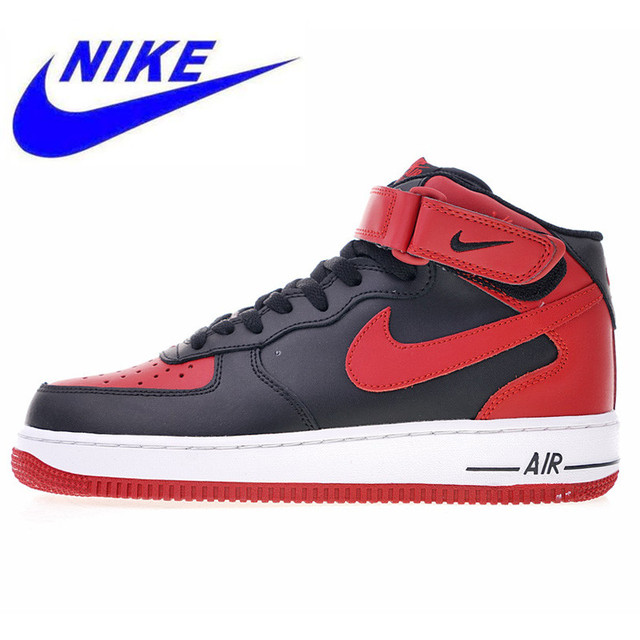 cheap for discount 3e1ec 00a57 Original Nike Air Force 1 Mid  07 Men s Skateboarding Shoes High Quality  Outdoor Sneakers Shock Absorption 315123 029