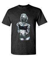 New 2016 Summer Fashion Men's Short Sleeve Printing Machine Crew Neck Mm Tube Top Marilyn Monroe T Shirts