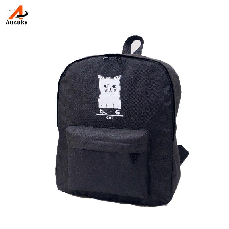 ausuky marca cópia do gato Modelo Número : Backpacks For Girls Military Backpack Bag Ladies Leather