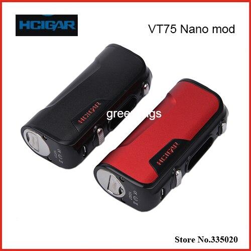 Оригинал Hcigar VT75 Nano Окно Мод е сигарета Vape 75 Вт Контроля Температуры подходит для Evolv DNA75 Чип Моды 5 шт./лот