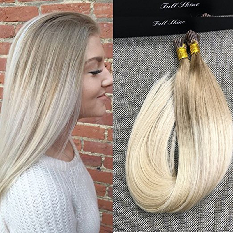 Full Shine Stick Hair Extensions Cold Fusion Ombre Balayage Color I
