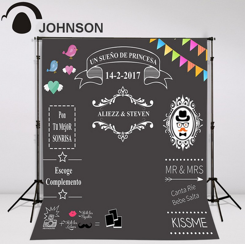 Custom blackboard Wedding Background Sweet love backdrop chalkboard DIY backdrop photocall bodas allenjoy diy wedding photography background romantic love wood board custom name date phrase backdrop photocall