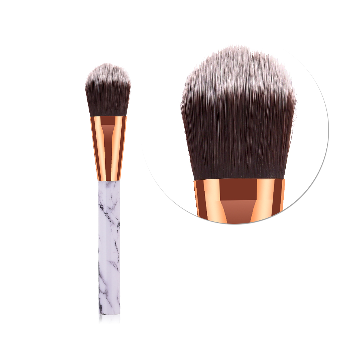 ELECOOL 1 шт. кисти для макияжа Мрамор текстуры ручка с нейлоновой волос подходит Портативный Фонд кисть продаж Горячая составляют инструменты