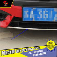 Car Styling front grille bumper Rear Tail Gate bumper ABS Trim Cover Sticker For Honda Civic 2016 Exterior trim Decoration