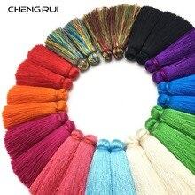 CHENGRUI L154, 4 см, с кисточками, шелковые кисточки, щетка для штор, ремесло, бахрома, шелк, фурнитура для серег, занавески, тени для век, шторы, 4 шт./пакет