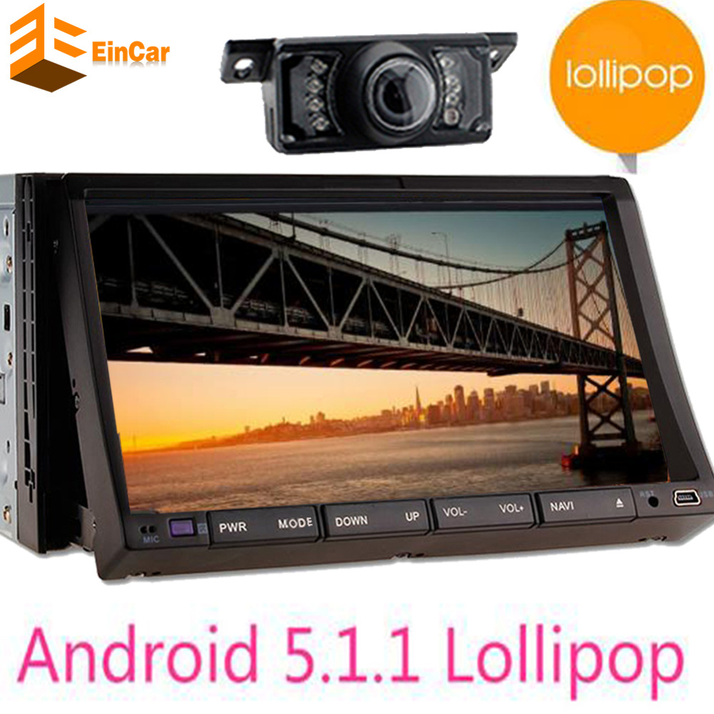 Android 5 1 Quad Core Car DVD Player Navigation Double 2 Din 7 Inch GPS Car