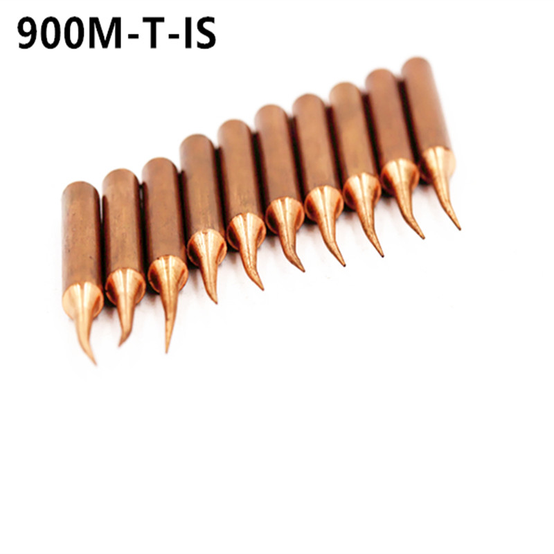 10 X 900M-T-IS Diamagnetic Copper Soldering Iron Tip Lead-free Solder Tip 933.376.907.913.951,898D,852D+ Soldering Station