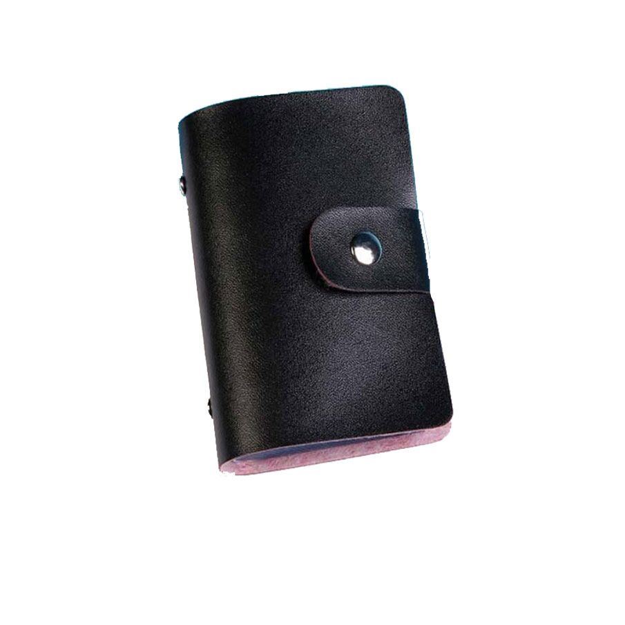 Leather Unisex Business Card Holder Wallet Bank Credit Card Case Bag ID Holder cardholder porte carte 26 slots for man and women bovis 5102 02 casual man s pu credit name card wallet slots coffee