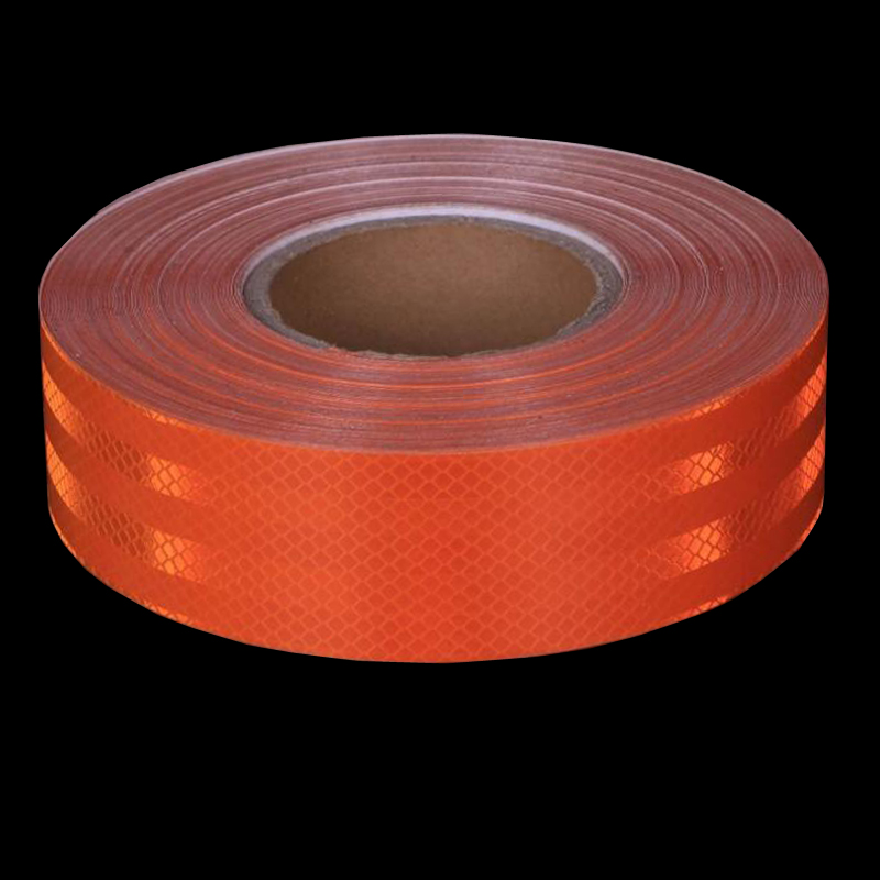 50mm X5m Safety Mark Reflective Tape Crystal Color Lattice Reflective Film 6 Colors Car Styling Self Adhesive Warning Tape