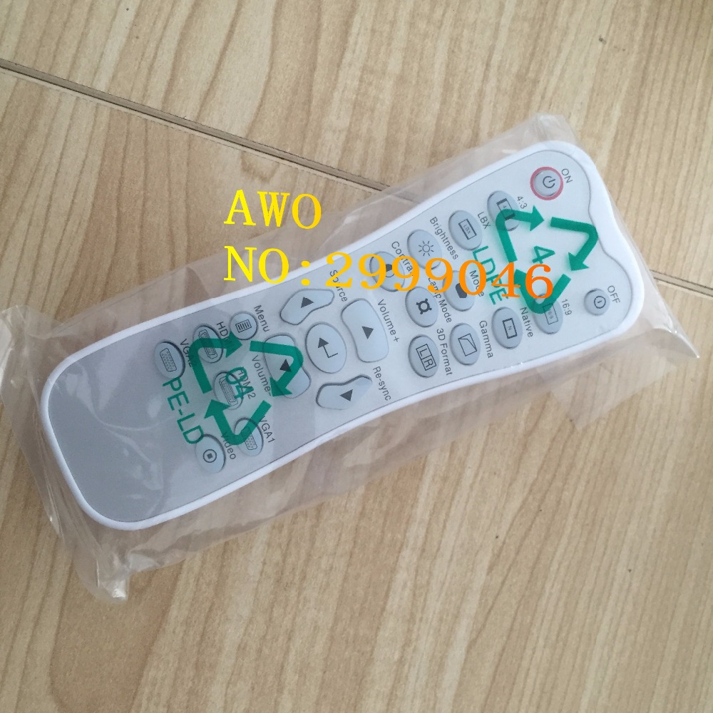 AWO REPLACEMENT Original Projector remote control FIT For Optoma HD33 HD30 HB5951 HD25LV HD25E HD2500(With a backlight) 1pcs/lot new projector remote control for optoma hd33 br 3060b hd25 hd25 lv br 3037b
