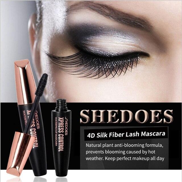 4D Silk Fiber Lash Mascara Waterproof Rimel 3d makeup Mascara For Eyelash Extension Black Thick Lengthening Eye Lashes Cosmetics 2