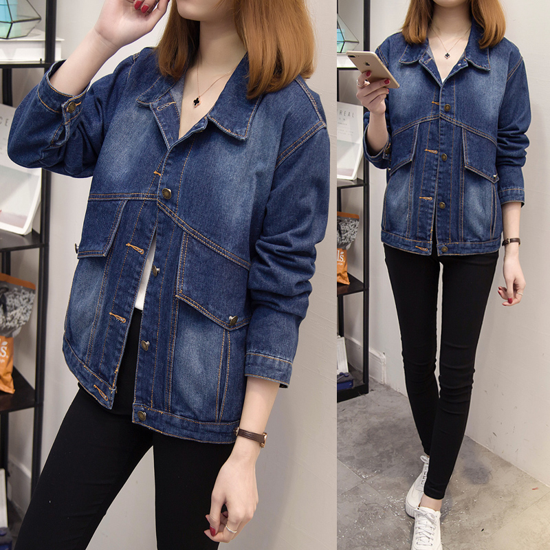 5xl plus big size coats women spring autumn summer style 2017 feminina fashion thin new denim