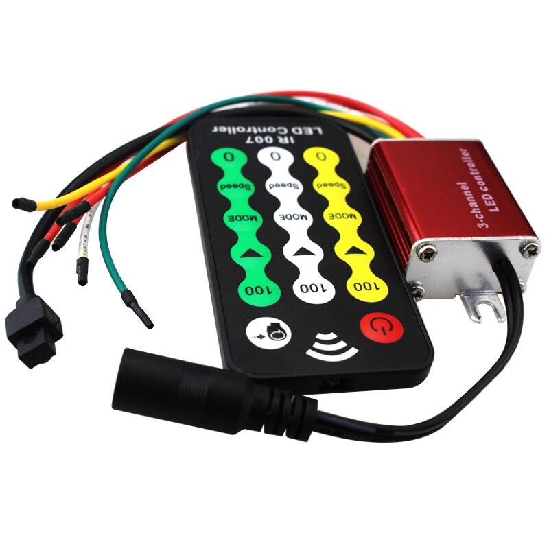 6pcs/pack DC 12V-24V 3 channel waterproof led dimmer ir remote controller for single color 5050 3528 5630 led strip luces strip wireless led single color dimmer w remote controller dc 12 24v