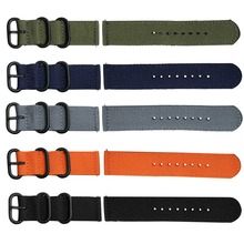Nylon canvas wrist Strap for Xiaomi huami Amazfit Bip Stratos 2/2S PACE GTR 42/47MM Watch Band for Samsung Gear S3 S2 bracelet