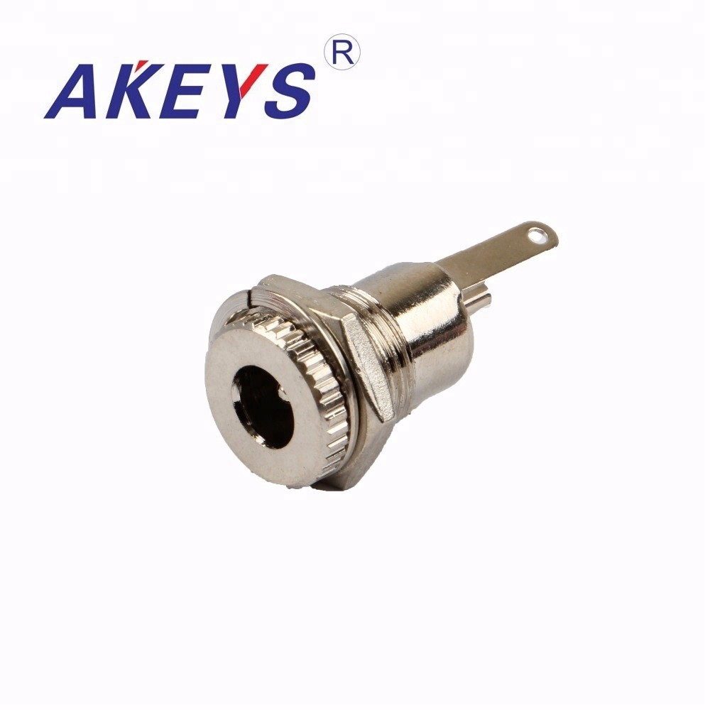 10PCS DC-099 Metal 5.5*2.1mm DC jack High current connector Power Jack with nuts
