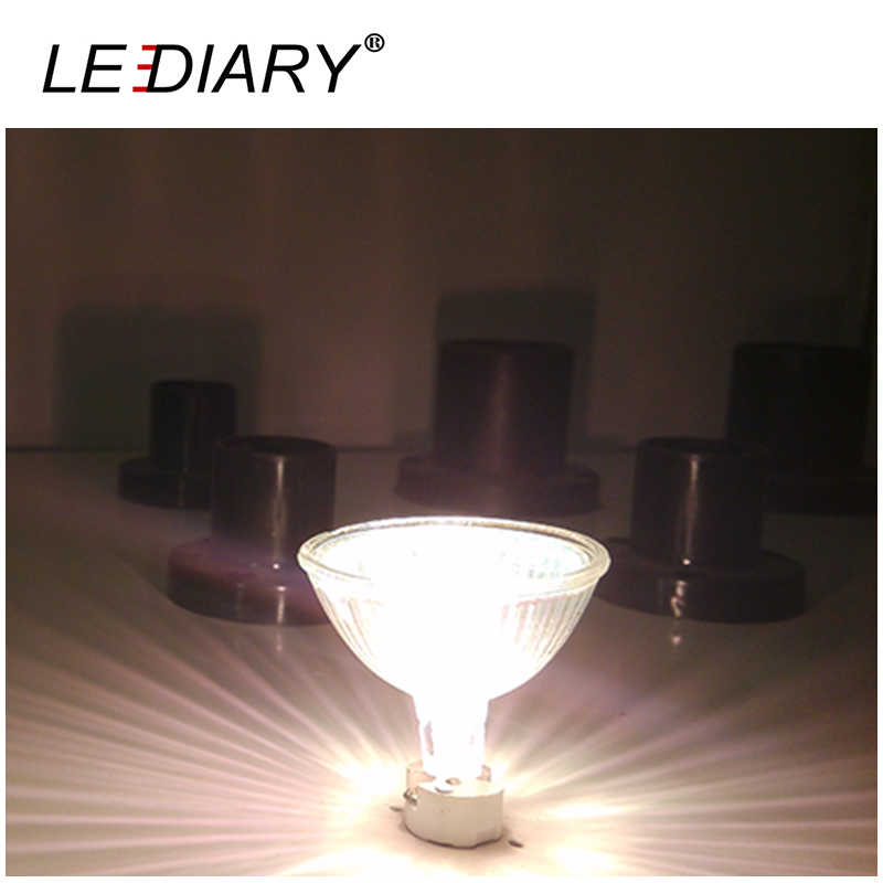 LEDIARY 10 шт. сверхъяркий Регулируемый MR16 GU5.3 Галогеновый свет пятна 12 V 20/35/50 Вт галогенные Маслосборник Форма лампа Прозрачное кварцевое стекло