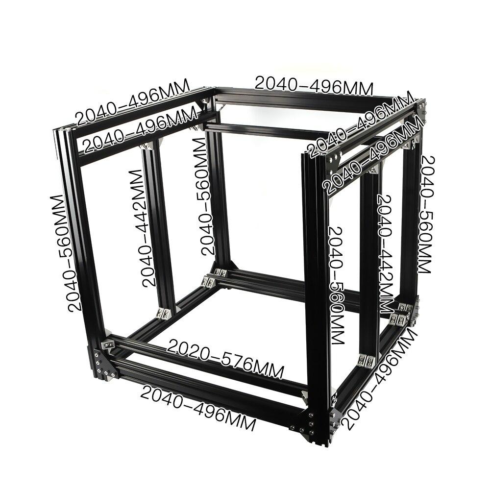 BLV Mgn Cube 3D Printer Aluminum Extrusion Frame Full Kit Nuts Screw Bracket Corner For DIY CR10 3D Printer Z Height 365mm