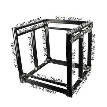 BLV mgn Cube 3D Printer Aluminum Extrusion Frame Full Kit Nuts Screw Bracket Corner For DIY CR10 3D Printer Z height 365mm transkoot 20pcs aluminum gusset plate angle 1515 bracket for aluminum extrusion profile 1515 series for 3d printer