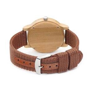 Image 4 - בובו ציפור WD10 Mens יוקרה למעלה מותג עיצוב שעון גברים עץ שעוני יד מעצב שעונים יוקרה במבוק שעון אריזת מתנה מקבלים Oem