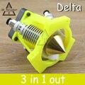 Accesorios de La Impresora 3D Diamond Latón boquilla Hotend Extremo Multi Color Caliente kit 3 EN 1 HACIA FUERA Extrusora V6 Disipador 0.4mm/1.75mm Rostock