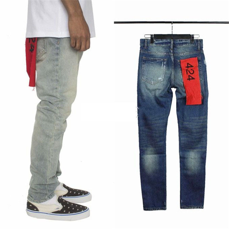 0661190b42 424 CUATRO DOS CUATRO Brand Jeans Hombres Kanye West High Street ...