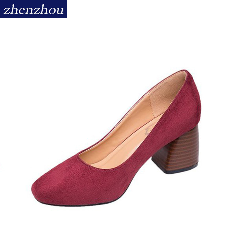 ZHENZHOU shoes woman 2018 new style Spring and autumn Round head shallow mouth with high heels side with women's shoes 14cm sexy fine with nightclub shiny diamond high heels spring and autumn shallow mouth princess wedding shoes