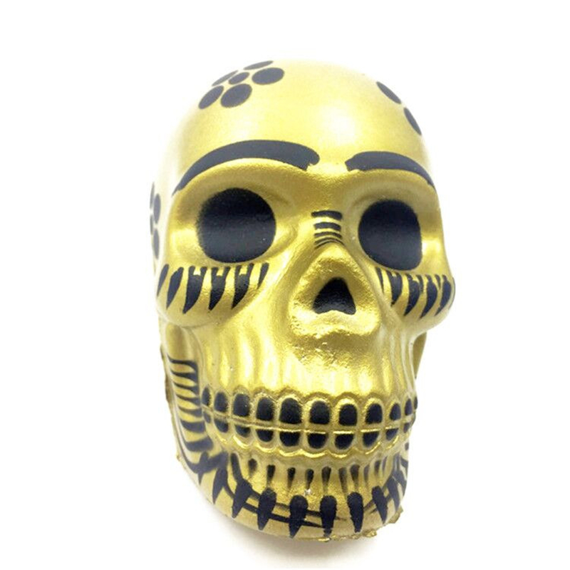 2017 New Arrival Golden Exquisite Fun Galaxy Skull Scented Squishy Charm Slow Rising 10cm Kid Toys Gift For Children Drop Ship #