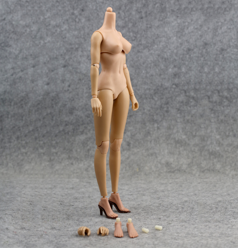 1/6 Scale Female Action Figure  12'' Flexible Body Doll Fit Popular HT Head hobbies model best birthd gift for kids 1 6 scale female head shape for 12 action figure doll accessories doll head carved not include body clothes and other km15