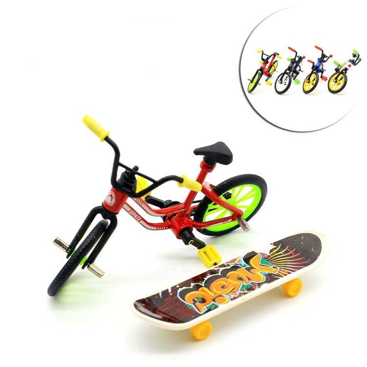 Vornehm 4 Farben Mini Griffbrett Finger Skateboard Und Bmx Bike Spielzeug Für Kinder Kinder Skate Boards Roller Fsb Spaß Neuheit Fahrrad Geschenk
