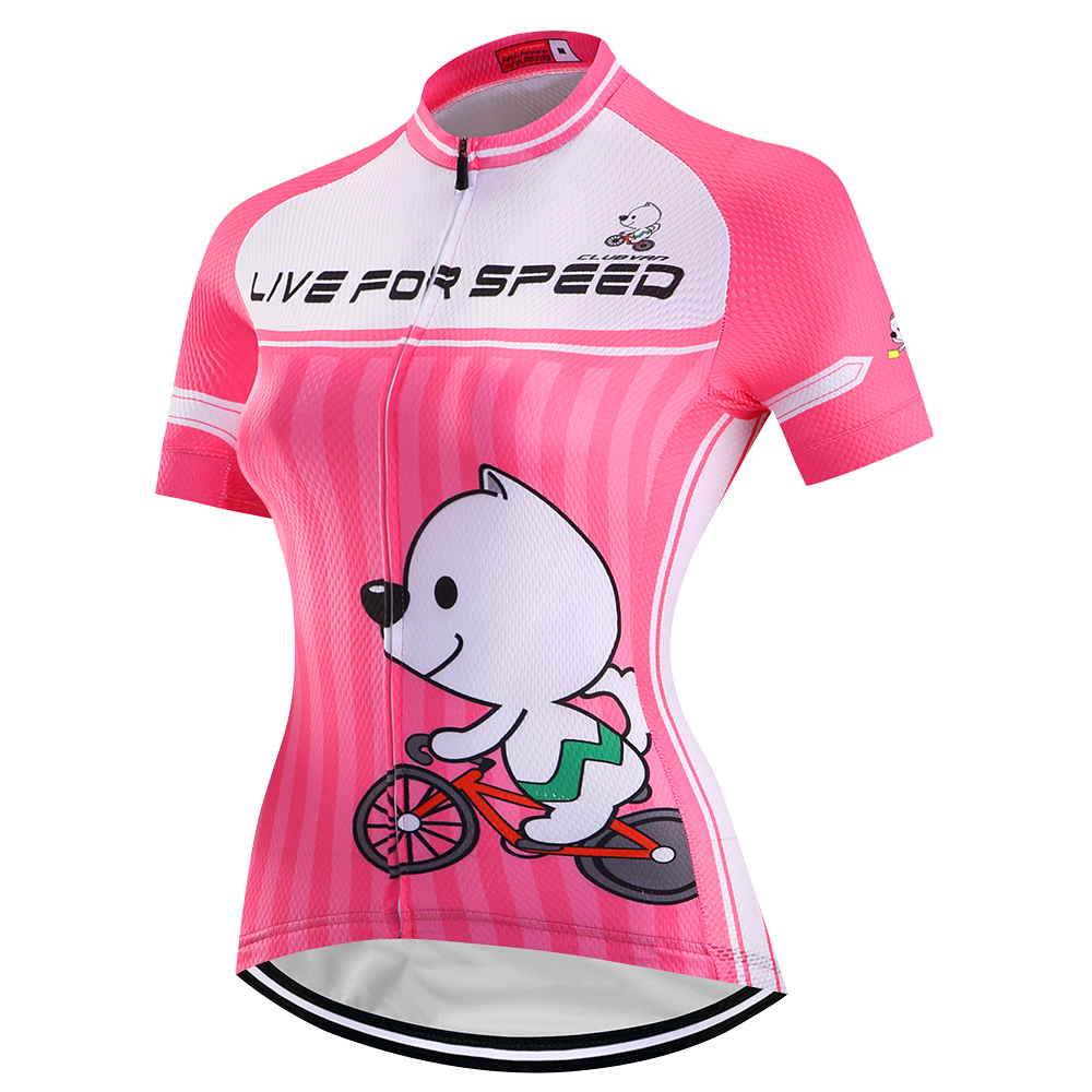 CLUBVAN Short Sleeve Summer Women MTB Bike Clothing Breathable Bicycle Clothes Ropa Ciclismo Girls UV Cycling Jersey