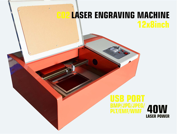 40 W CO2 USB Gravação A Laser Máquina de Corte 300x200mm Madeira Artesanato de trabalho melhor
