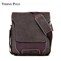 2014 POLO Brand Man Fashion Canvas Bag Men S Backpack Shoulder Bag Leather Memessenger Bag High