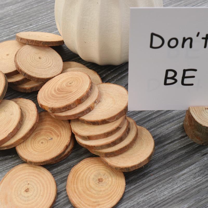 Ergomagic 10pcsbag Pine Wood Slices For Diy Crafts Wedding