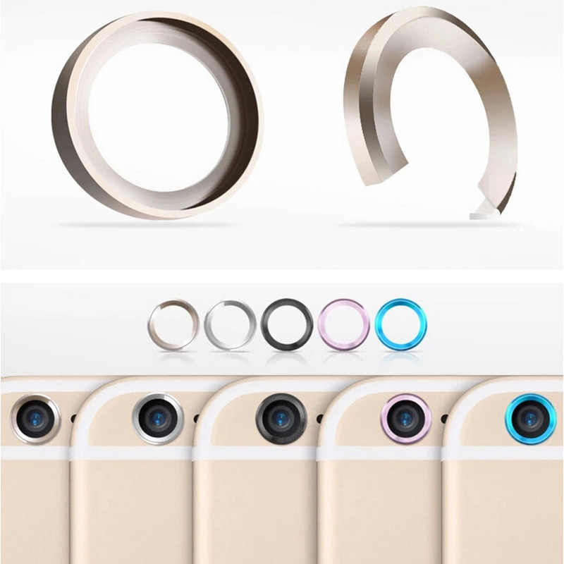 KUKOWDEE metalowy zderzak osłona na kamerę dla iPhone 6 7 8 plus ekran aparatu osłona obiektywu dla iPhone X powrót futerał na aparat fotograficzny różowy kolor
