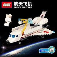 GUDI Modelleri Bina oyuncak Lego ile Uyumlu G8814 297 ADET Uzay Mekiği Blokları Oyuncaklar Hobiler Için Erkek Kız Model Oluşturma kitleri