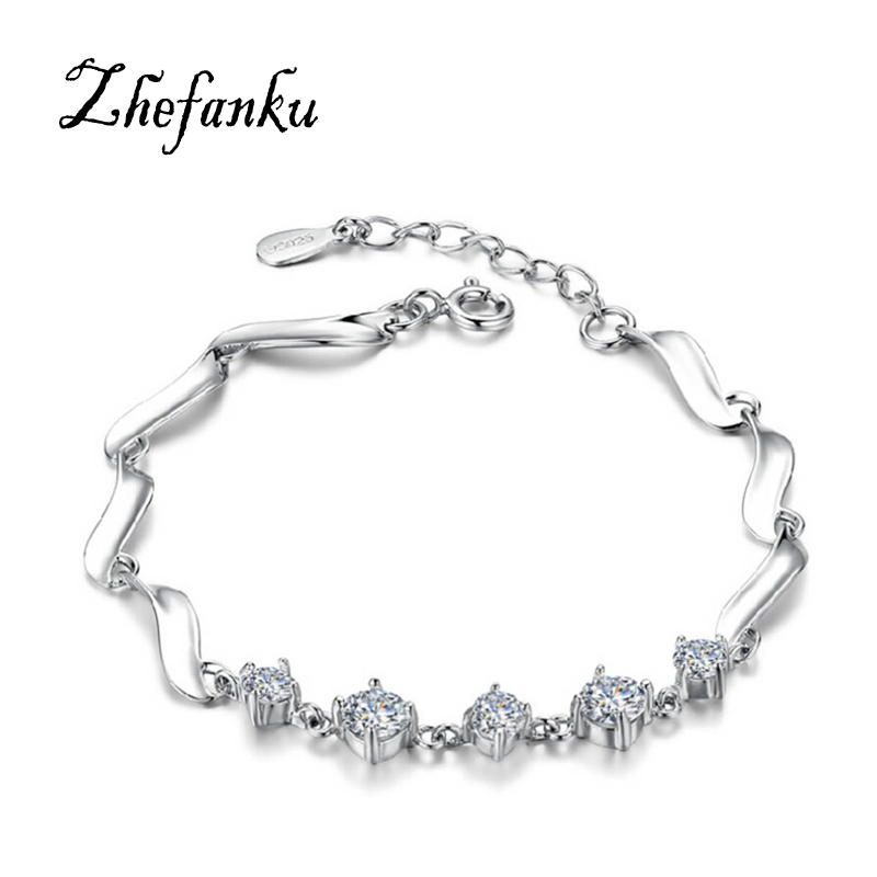Charming Jewelry Guardian Forever Female Cute Simple Zircon Hypoallergenic Bracelet Color Silver BL-0478