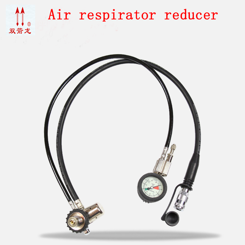 Air respirator Pressure reducer full face respirator Oxygen supply system Adjust the alarm Positive pressure respirator  free shipping jwdox 1 oxygen pressure reducer oxygen gas regulator o2 regaultor