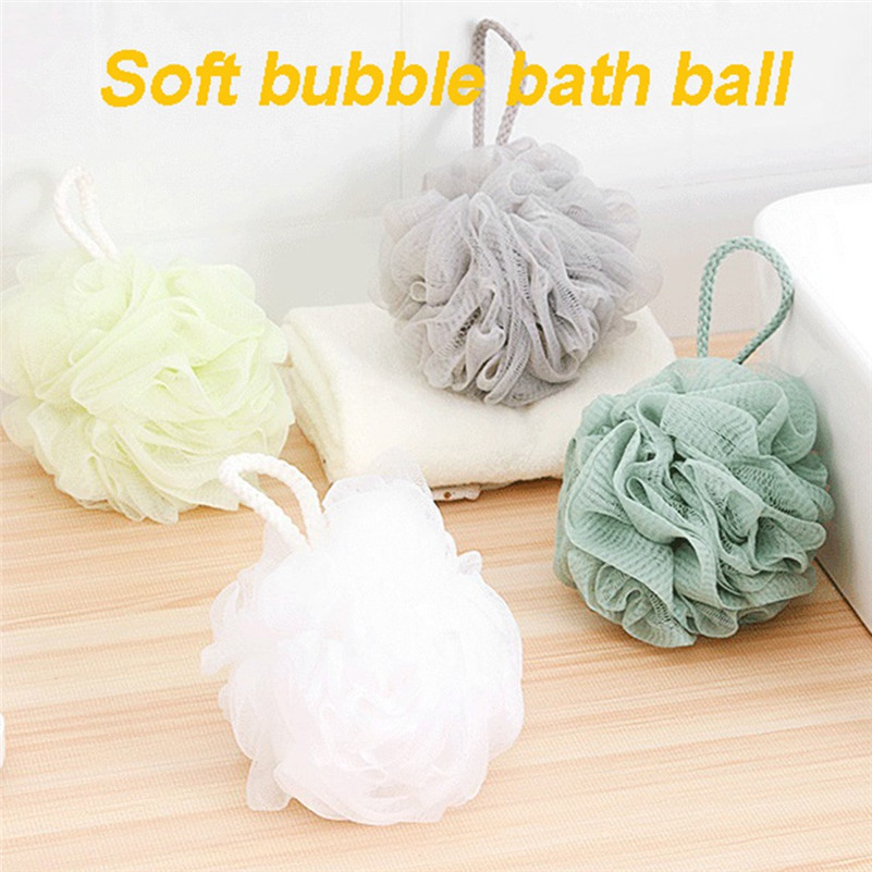 Large Size Solid Bath Balls Rich bubbles Body Flower Bath Sponge Shower Brush Body Wash Scrubber Mesh Soft Puff L3