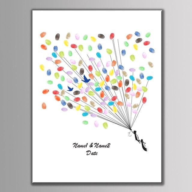 Customize Name Fingerprint DIY Signature Guest Book For Wedding Baby Shower  Birthday Party Decoration Fingerprint Tree