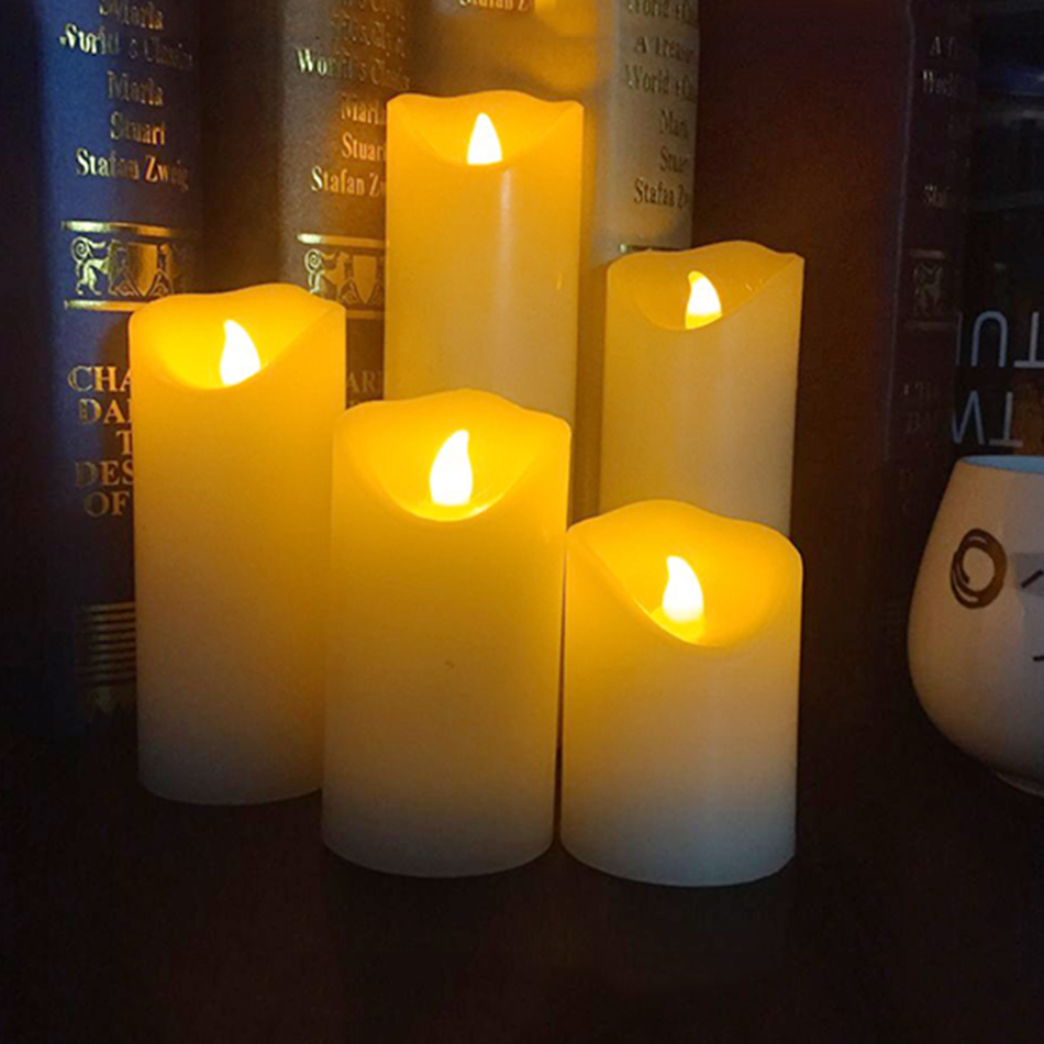 Sin llama LED vela electrónica, hecho por la cera real con ficker ...